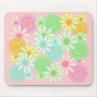 Crazy Daisy retro style mousepad Flower power