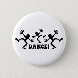 Crazy Dancers Dancing Pinback Button