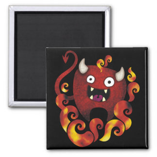 Crazy Demon 2 Inch Square Magnet
