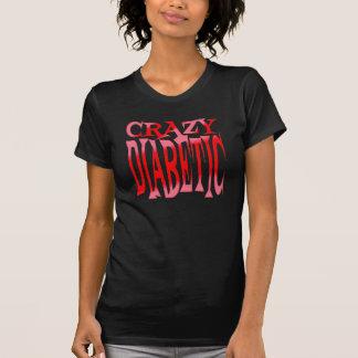 Crazy Diabetic in Reds Tee Shirt