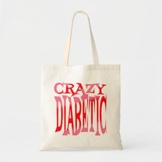 Crazy Diabetic in Reds Tote Bag
