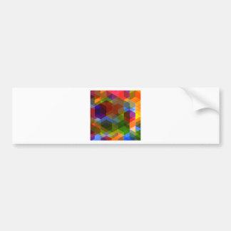 Crazy Diamond Pattern Bumper Sticker