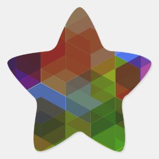 Crazy Diamond Pattern Star Sticker