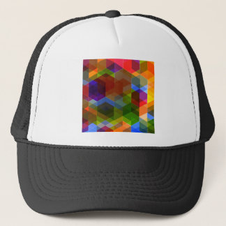 Crazy Diamond Pattern Trucker Hat