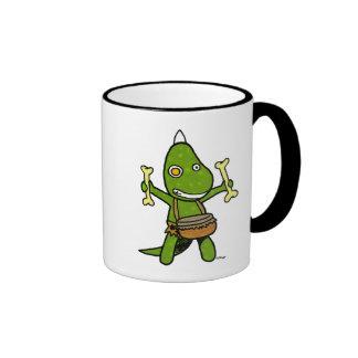 crazy dino ringer coffee mug