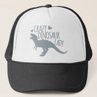 Crazy Dinosaur Lady Trucker Hat