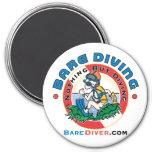 Crazy Diver Bare Diver Magnet