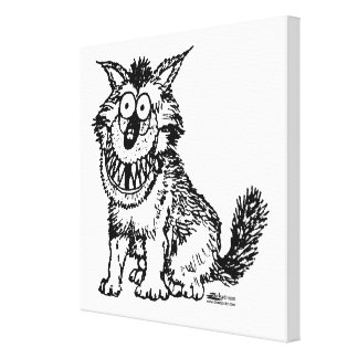 Crazy Dog Canvas Print
