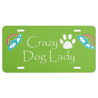 Crazy Dog Lady License Plate