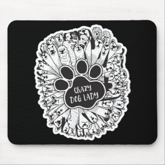 """Crazy Dog Lady"" Mouse Pad"