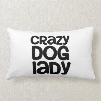 Crazy Dog Lady Throw Pillows