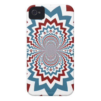 Crazy Dog Lover Paw Prints Red Blue Pattern iPhone 4 Covers