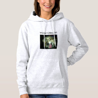 Crazy dog picture hoodie