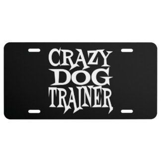 Crazy Dog Trainer License Plate