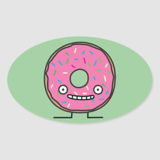 Crazy Donut Oval Sticker