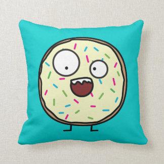 Crazy Donut Throw Pillows