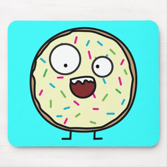 Crazy Donut with sprinkles Mouse Pad