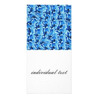 crazy doodle 13 blue (C) Picture Card