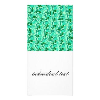 crazy doodle 13 green (C) Photo Card