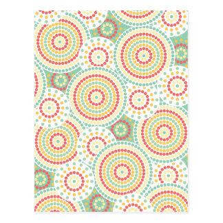Crazy dot pattern postcard