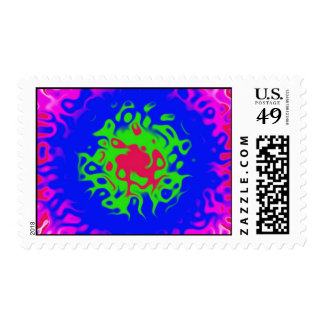 crazy dots postage stamps