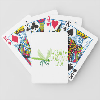 Crazy Dragonfly Lady Bicycle Playing Cards