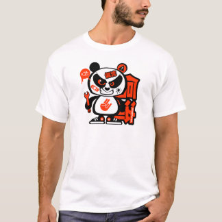 Crazy Drift Patrol - Aggressive Panda (red) T-Shirt