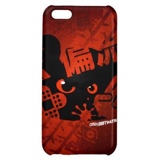 Crazy Drift Patrol - Aggressive Panda Silhouette iPhone 5C Covers