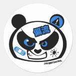 Crazy Drift Patrol - Drift Panda Head (blue) Classic Round Sticker