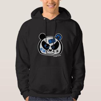 Crazy Drift Patrol - Drift Panda Head (blue) Hooded Pullover