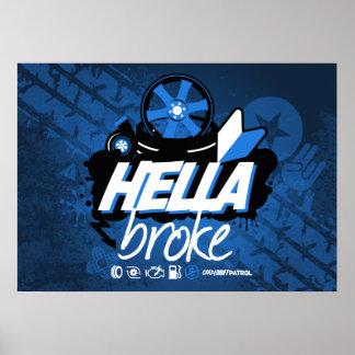 Crazy Drift Patrol - Hella Broke (blue) Poster