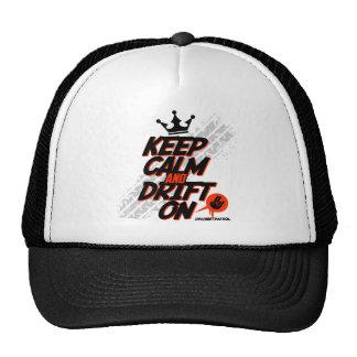 Crazy Drift Patrol - Keep Calm and Drift On red Mesh Hats