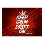 Crazy Drift Patrol - Keep Calm and Drift On (red) Print