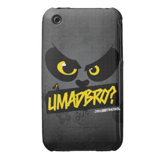 Crazy Drift Patrol - UMADBRO? (yellow) iPhone 3 Case