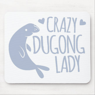 crazy dugong lady mouse pad