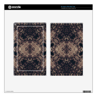 Crazy Earth tone Abstract Kindle Fire Skin