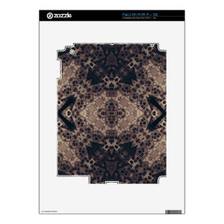 Crazy Earth tone Abstract Skins For iPad 2