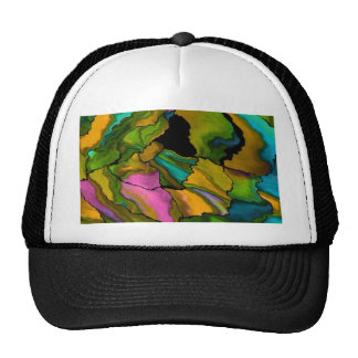 crazy effects 02 colorful mesh hat