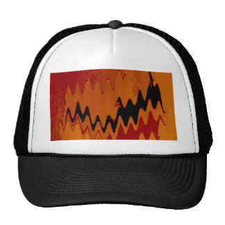 crazy effects black red trucker hats