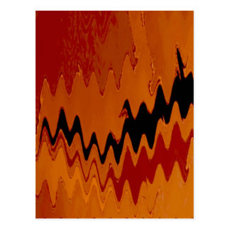 crazy effects black red postcard