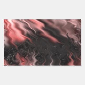 crazy effects black red rectangular sticker