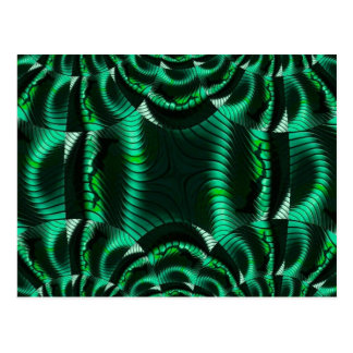 crazy effects green post card