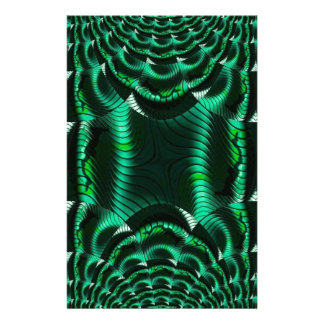 crazy effects green stationery