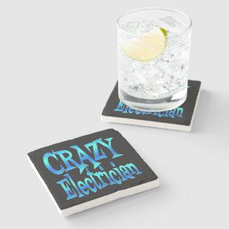 Crazy Electrician Stone Coaster