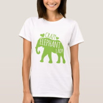 Crazy Elephant Lady T-Shirt