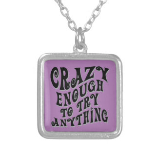 Crazy Enough Silver Plated Necklace