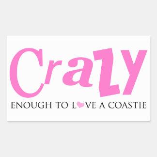 Crazy enough to love a Coastie Rectangular Sticker