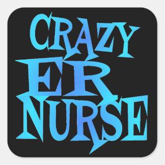 Crazy ER Nurse Square Sticker