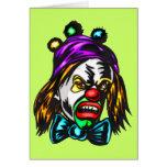 Crazy Evil Clown Greeting Cards