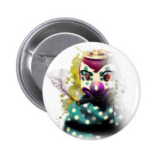 Crazy Evil Clown Toy Button